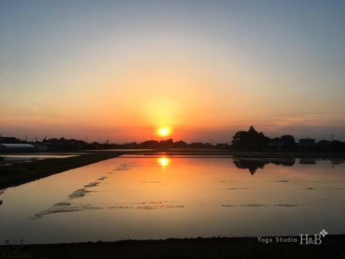 羽生市の絶景ポイント、今日の夕焼け